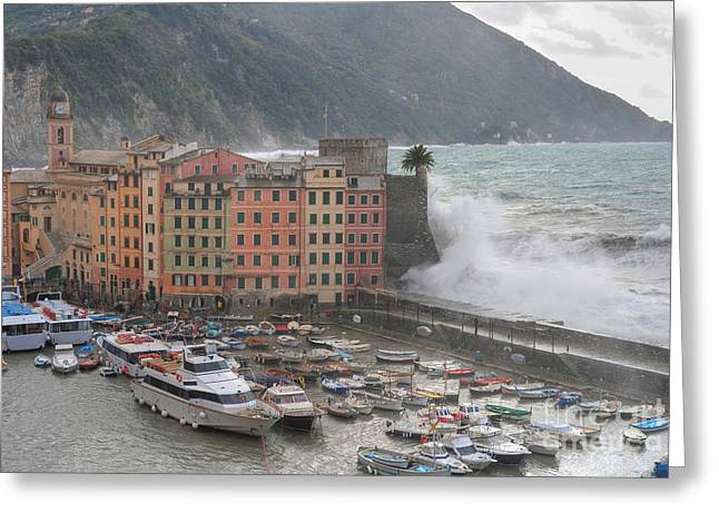 Greeting Card featuring the photograph Camogli Under A Storm by Antonio Scarpi