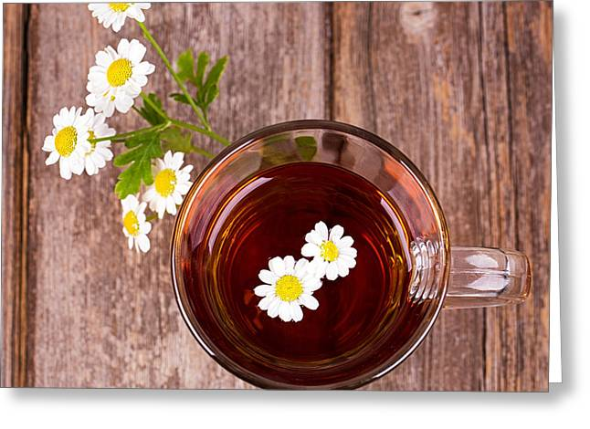 Camomile Tea Greeting Card by Jane Rix