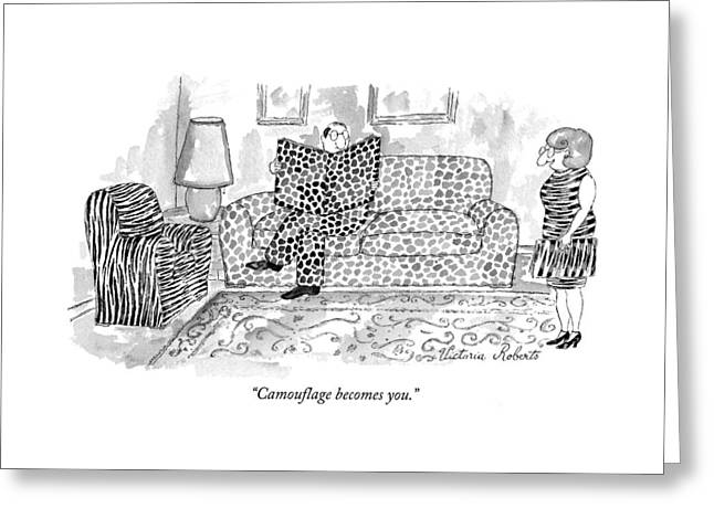 Camouflage Becomes You Greeting Card