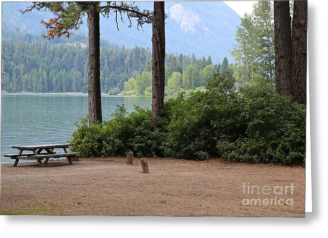 Camp By The Lake Greeting Card by Carol Groenen