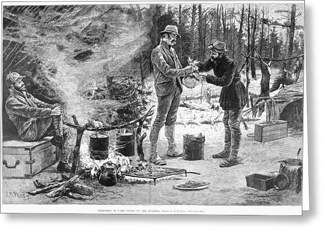 Camp Christmas, 1885 Greeting Card