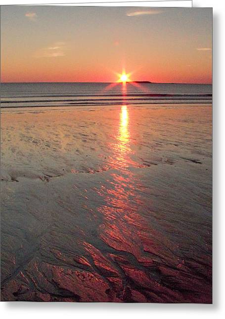 Greeting Card featuring the photograph Camp Ellis Beach Sunrise 2013-10-19 by Jeremy McKay