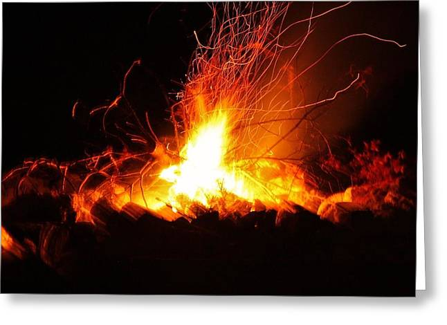 Greeting Card featuring the photograph Camp Fire... by Al Fritz