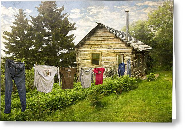 Camp Leconte Greeting Card by Debra and Dave Vanderlaan