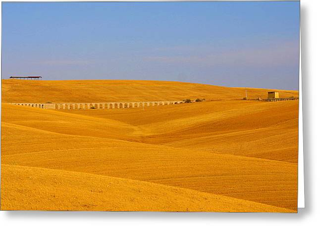 Tarquinia Landscape Campaign With Aqueduct And House Greeting Card