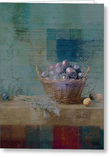 Campagnard - Rustic Still Life - J085079161f Greeting Card by Variance Collections