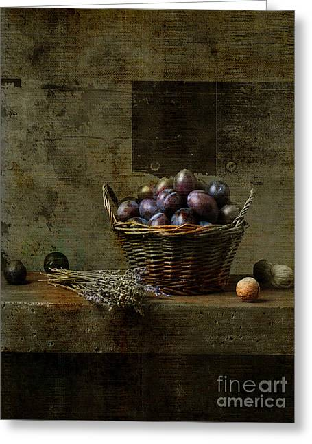 Campagnard - Rustic Still Life - S03at01 Greeting Card by Variance Collections