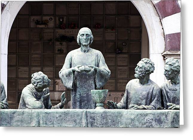 Campari Grave Marker Detail I Last Supper Monumental Cemetery Greeting Card