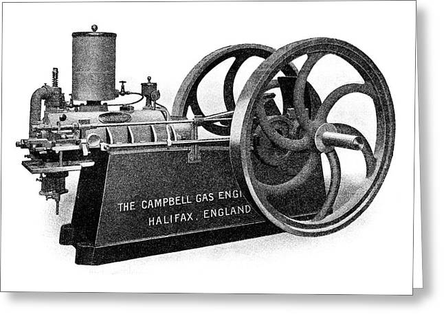Campbell Petrol Engine Greeting Card