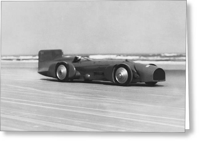 Campbell's Bluebird At Daytona Greeting Card