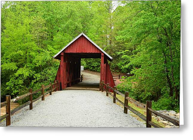 Greeting Card featuring the photograph Campbells Covered Bridge by Bob Sample