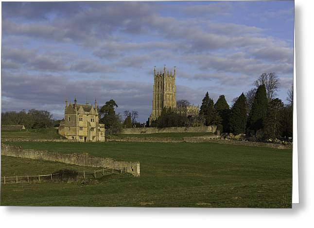 Campden House And St James Church Greeting Card by Wendy Chapman