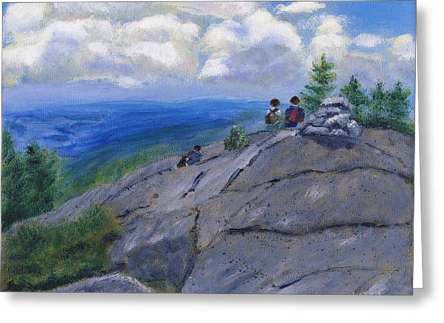 Campers On Mount Percival Greeting Card