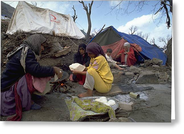 Camping In Iraq Greeting Card
