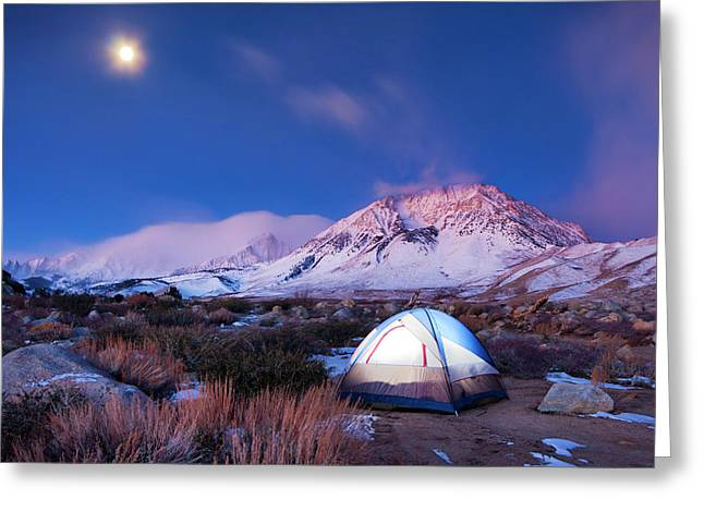 Camping In The Mountains Greeting Card by Design Pics Vibe