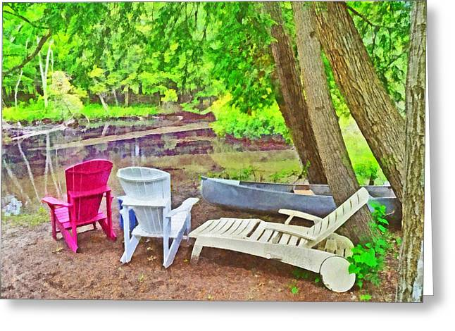 Camping On The Crystal River Greeting Card