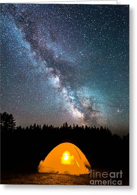 Camping Under The Stars Greeting Card