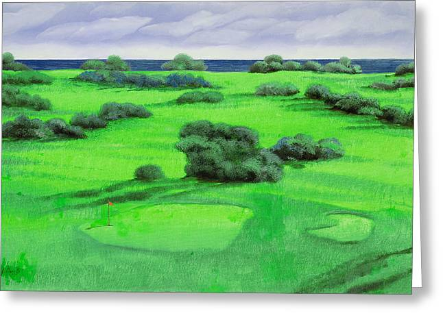 Campo Da Golf Greeting Card by Guido Borelli