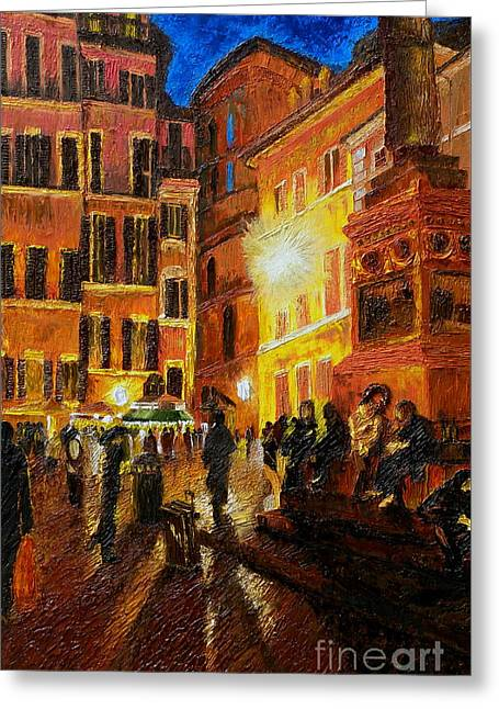 Campo Di Fiori- Italy Greeting Card