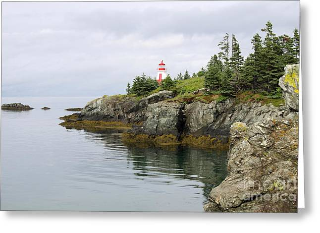 Campobello Island -  East Quoddy Lightstation Greeting Card by Christiane Schulze Art And Photography