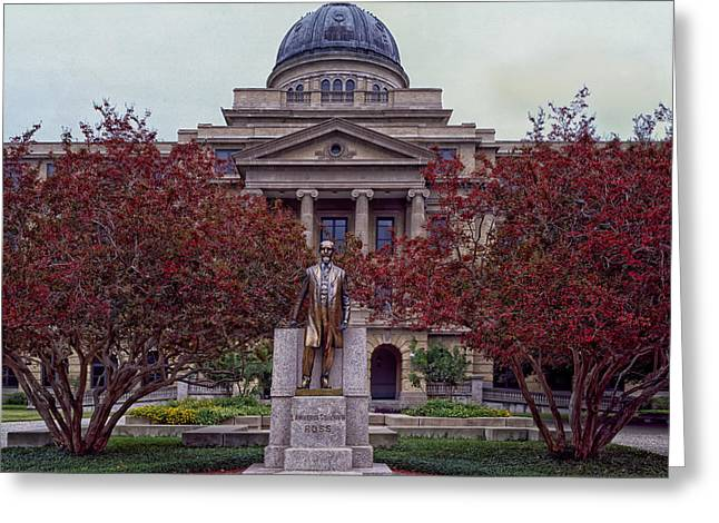 Campus Of Texas Am Greeting Card by Mountain Dreams