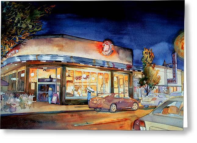 Can Can Carytown Greeting Card by Jim Smither