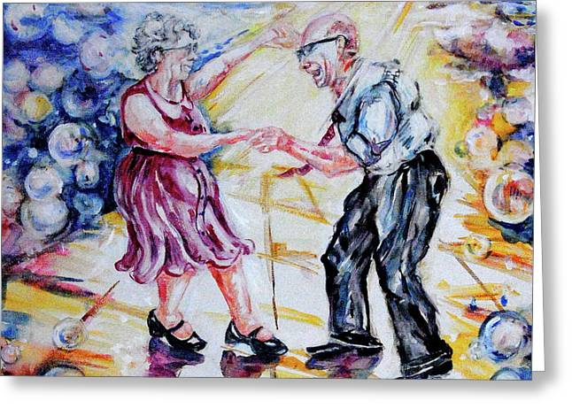 Can I Have This Dance For The Rest Of My Life Greeting Card by Margaret Donat