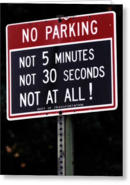 Greeting Card featuring the photograph Can I Park Here by Jim Poulos