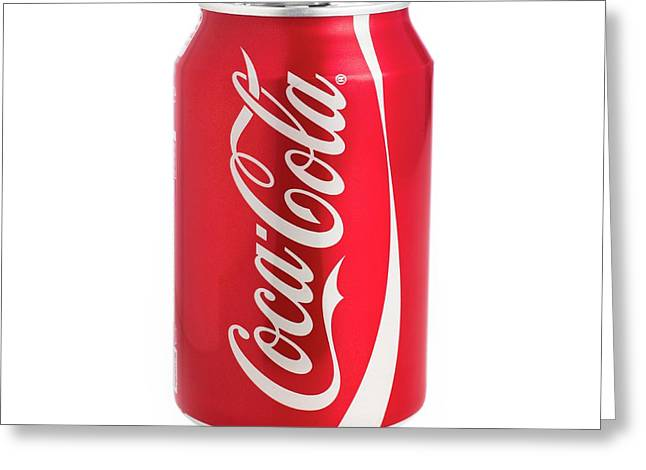 Can Of Coca Cola Greeting Card by Science Photo Library