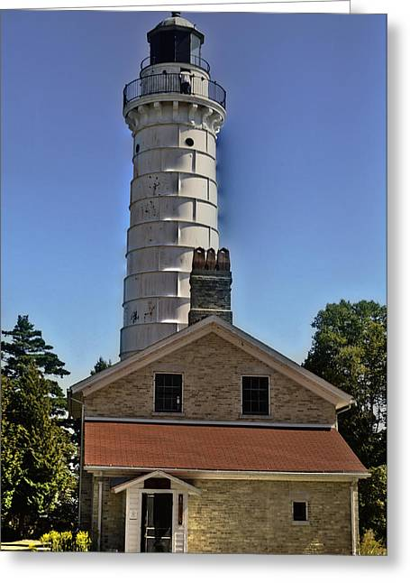 Greeting Card featuring the photograph Cana Island Lighthouse by Deborah Klubertanz