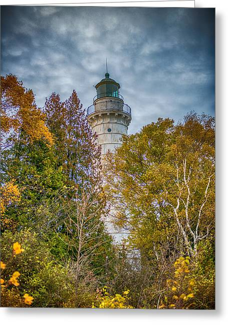 Cana Island Lighthouse II By Paul Freidlund Greeting Card by Paul Freidlund