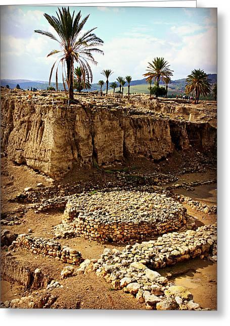 Canaanite Altar -- Megiddo Greeting Card by Stephen Stookey