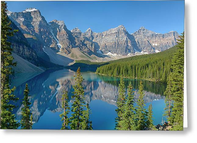 Canada, Banff National Park, Valley Greeting Card