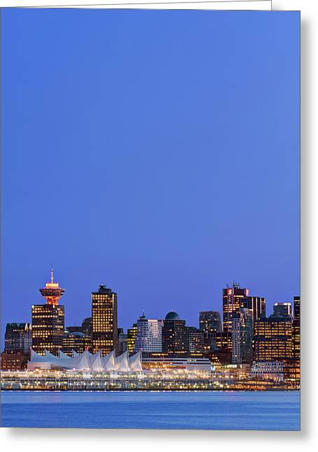 Canada, Bc, Vancouver Skyline Greeting Card by Rob Tilley