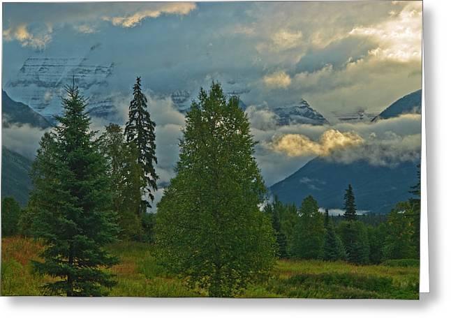 Canada, British Columbia, Mt Greeting Card