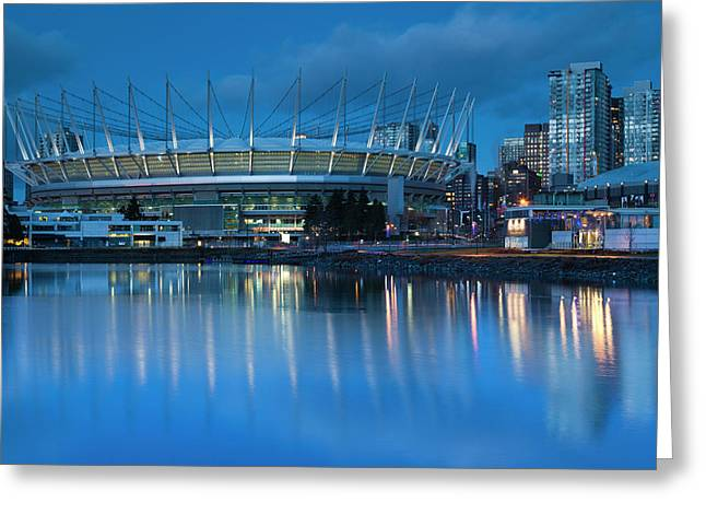 Canada, British Columbia, Vancouver, Bc Greeting Card by Walter Bibikow