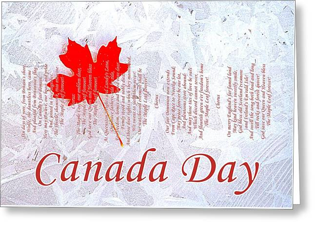 Canada Day .. The Maple Leaf Forever Greeting Card by The Creative Minds Art and Photography