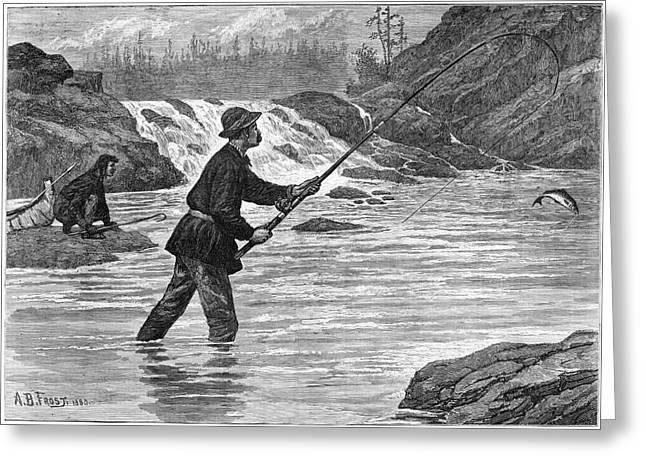 Canada Fishing, 1883 Greeting Card by Granger