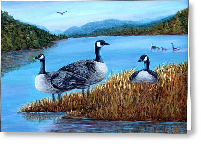 Canada Geese - Lake Lure Greeting Card
