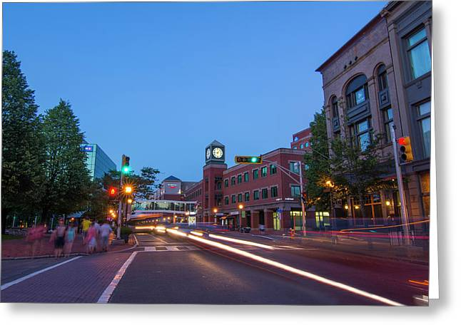 Canada, Moncton, New Brunswick, Night Greeting Card by Bill Bachmann