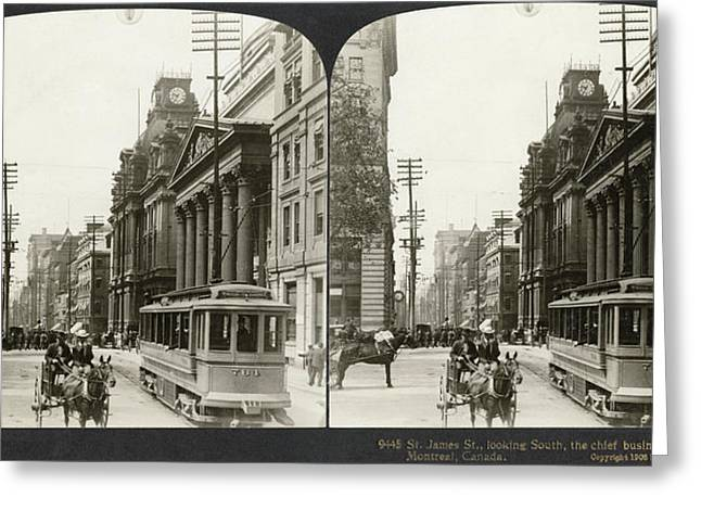 Canada Montreal, 1908 Greeting Card