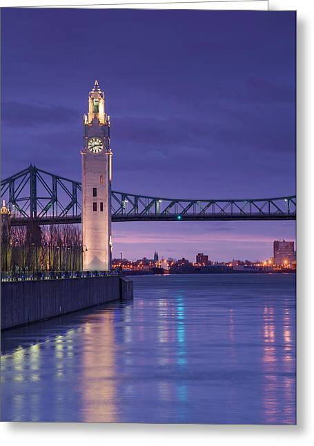 Canada, Montreal, Old Port Clock Tower Greeting Card