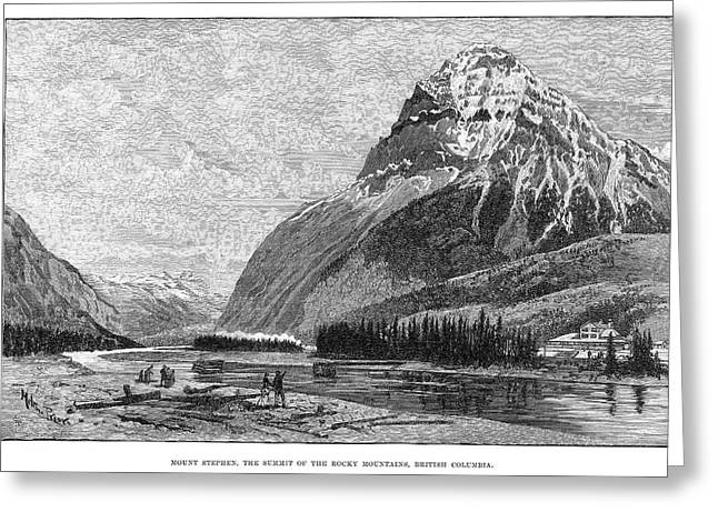 Canada Mount Stephen, 1888 Greeting Card by Granger