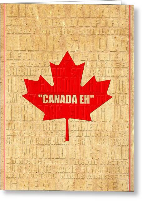 Canada Music 2 Greeting Card