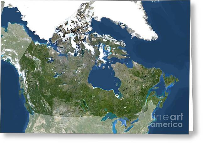 Canada, North America Greeting Card by Planet Observer