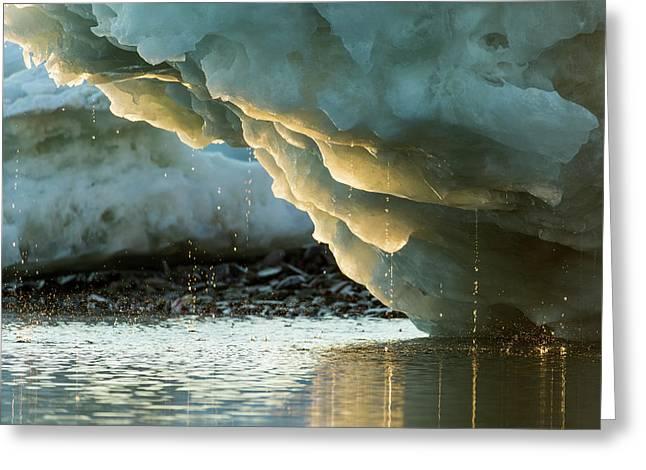 Canada, Nunavut Territory, Water Drips Greeting Card by Paul Souders