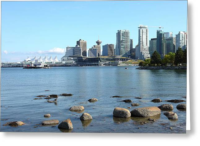 Canada Place And The Vancouver Bc Skyline Canada. Greeting Card by Gino Rigucci