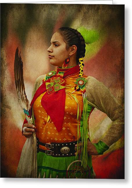 Canadian Aboriginal Woman Greeting Card