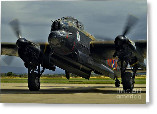 Canadian Avro Lancaster Bomber Greeting Card