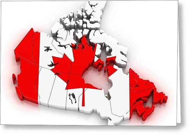 Canadian Cell Phone Case Greeting Card by Shane Dufoe
